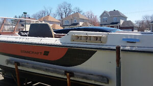 Starcraft boat with a trailer.