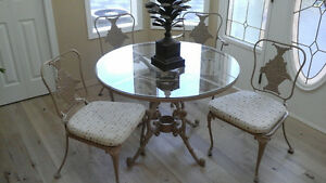 cast Italian indoor/outdoor table and chair set