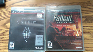 Skyrim and Fallout New Vegas for PS3