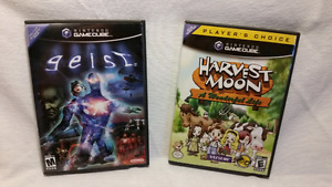 Harvest Moon & Geist Gamecube Games with Memory Cards