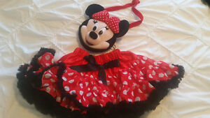 Minnie Chiffon/Satin Petticoat and plush purse