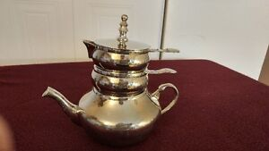 Vintage RAJ Silverplate Stackable Teapot with Creamer and Covere