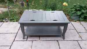 Satin gray coffee table