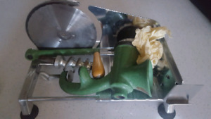 Meat slicer and grinder