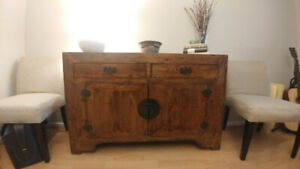 "Chinese Sideboard - length 52.5"" width 15.75"" height 34"""
