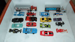 70 SLOT CARS - AFX, TYCO, TOMY, AURORA, TJET, HOT WHEELS, IDEAL,