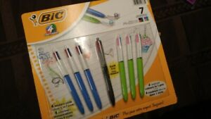 7 BIC New in package multi colour ballpt med 1.0mm