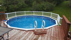 18' swimming pool and heat pump