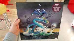 Autographed ASIA Band 1st Album Signed by all 4 Members