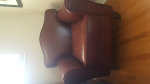 Genuine leather club chair Rawhide