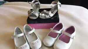 Souliers fille blanc Argent 10 11 white shoes for girls