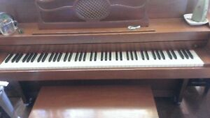 Beautiful Lesage Piano and bench (apartment size)