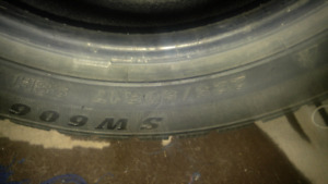 Slightly used winter tires and used summer tires 225/50/R17