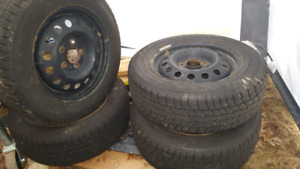 Elantra GT hatchback winter tires and rims. Like new