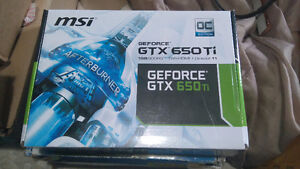 MSI GTX 650 Ti Immaculate in box with covers ect..