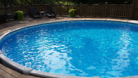 24' Above Ground Pool with Salt Water System