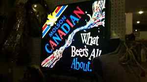 Molson light up beer sign 159