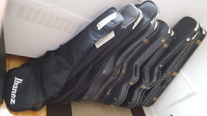 guitar and bass casses/etuis