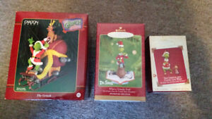 3 The Grinch Christmas Ornaments