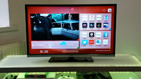 """32"""" SMART JVC TV/DVD COMBI WITH REMOTE FULL HD , WIFI, APPS"""