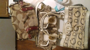 2 Coach purses and 1 Guess purse