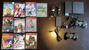 PS2 for sale, 10 games, 2 controllers, all cables