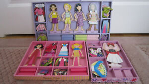 3 Melissa & Doug Magnetic Wooden  Dress-Up Sets huge lot