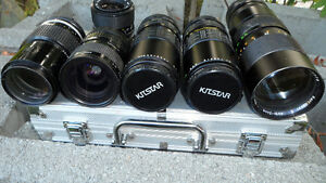 6 35mm Camera Lenses Various Mounts $60 All. Unknown mounts... Prince George British Columbia image 2