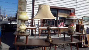 Pair of victorian  style table lamps with prisms only $65.00 eac