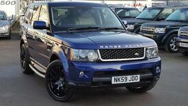 2009 LAND ROVER RANGE ROVER SPORT TDV6 SE BALI BLUE CREAM LEATHER PRIVACY /