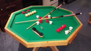 3 in 1 octagon dining poker bumper pool table 550$ obo