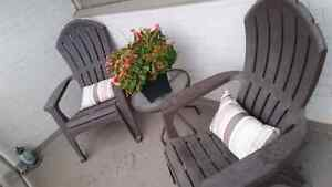 Outdoor chairs and bistro table