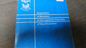 Members of the Legislative Assembly of NB book, 1984