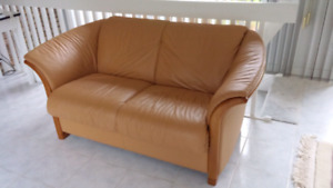 Stressless leather loveseat