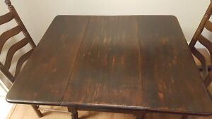 Wooden Dinning Room Table with 2 Chairs - $200 OBO