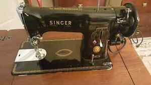 1956 Antique  Singer 191J Sewing machine  W/Table + Bench
