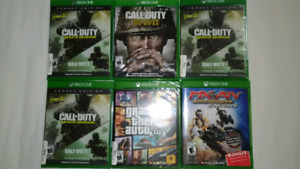 Brand new and Physical Sealed Xbox One games from $20 to $40