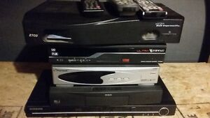 Satellite Receivers and a DVD Play