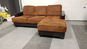 Polished Suede Sectional