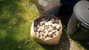 Small Landscaping rocks (approx. 1000 lbs)