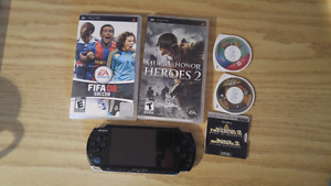 PSP and 5 games