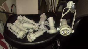 Track light heads 7w/ bulbs