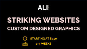 Web Design  |  Starting at $250  |  2-3 Weeks