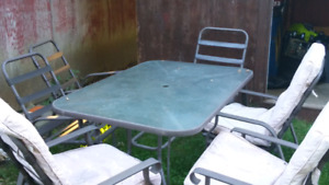 Glass patio set 100$ o.b.o.
