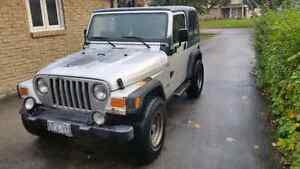 Hot deal! 2002 jeep wrangler as is. Brand new clutch! Stratford Kitchener Area image 3