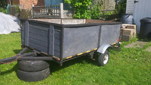 utility trailer 4X7.5 1200lb axle newer tires