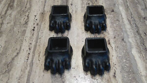 Set Of 4 Fisher Wood Stove Black Oxide Cast Iron Bear Paw Feet