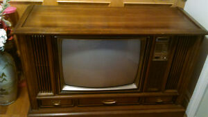 Vintage Classic Sears Cabinet Style Television