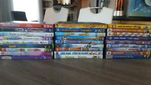 27 dvds pour enfants et ados vendus en lot ou à l'unité