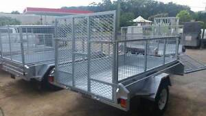BOX TRAILER WITH RAMP 1300MM HIGH AND 600MM CAGE NEW 8 X 5 Gympie Gympie Area Preview